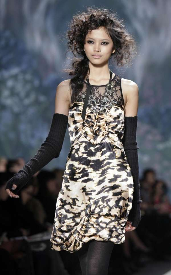 The fall 2010 collection of Tracy Reese is