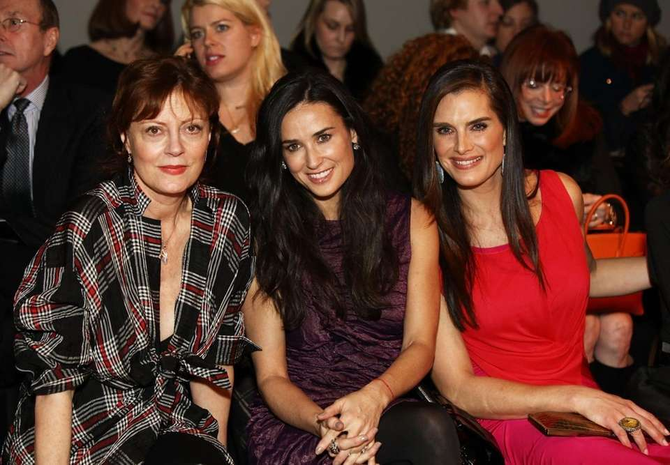 Actresses Susan Sarandon, Demi Moore and Brooke Shields