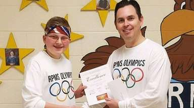 Eighth-grader Quentin Palifka with Rocky Point Middle School