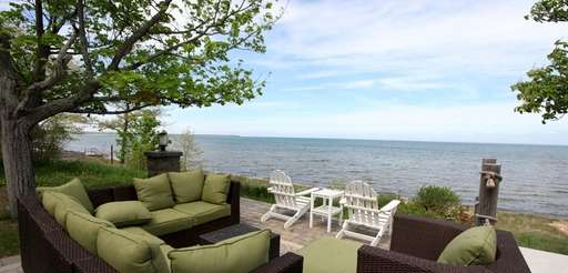 The view of Lake Huron from a 1,800-square-foot