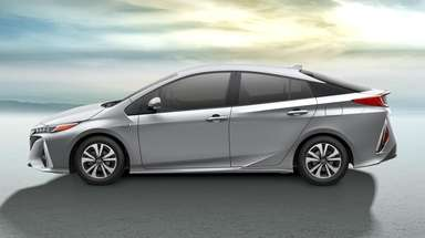 The Toyota Prius Prime, a plug-in gas-electric hybrid,