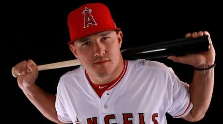 Mike Trout of the Los Angeles Angels on