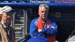 Rep. Peter King was decked out in Mets