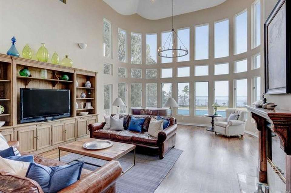 The living room in this Hampton Bays contemporary