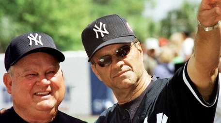 Yankees coach Don Zimmer, left, and manager Joe