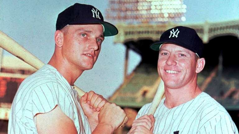 Roger Maris, left, and Mickey Mantle, in 1961.