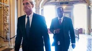 Special counsel Robert Mueller departs the Capitol in