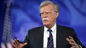 John Bolton, a former U.S. ambassador to the