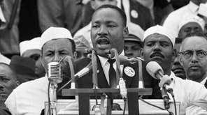 Dr. Martin Luther King Jr. giving his