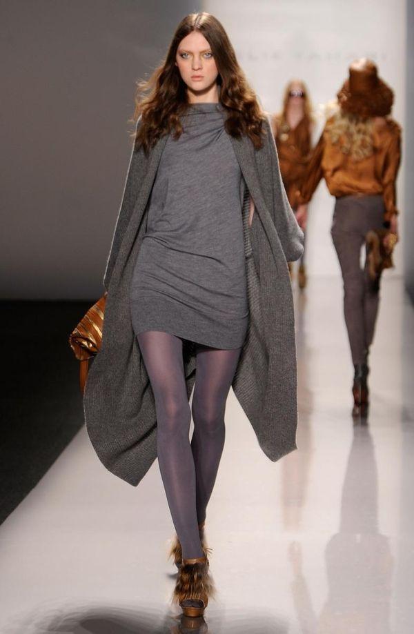 NEW YORK - FEBRUARY 16: A model walks
