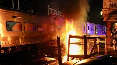 LIRR service is temporarily suspended east of Mineola