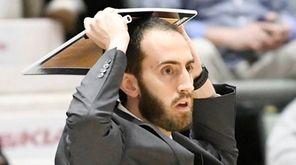 Long Island Lutheran head coach John Buck reacts