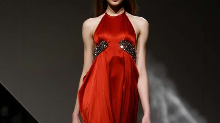 The Halston fall 2010 collection is modeled Monday