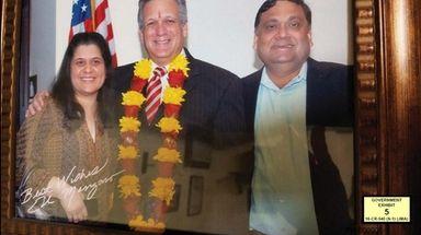 Ruby Singh, Edward Mangano and Harendra Singh