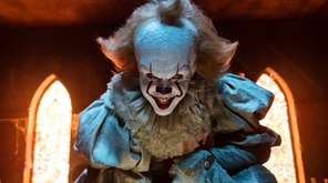 Bill Skarsgard as the evil clown Pennywise in