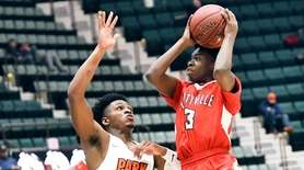 Park School's Daniel Scott (13) defends against Amityville's
