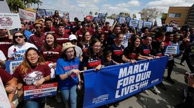 Marjory Stoneman Douglas High School students take part