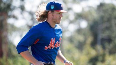 Mets pitcher Noah Syndergaard on Feb. 17, 2018