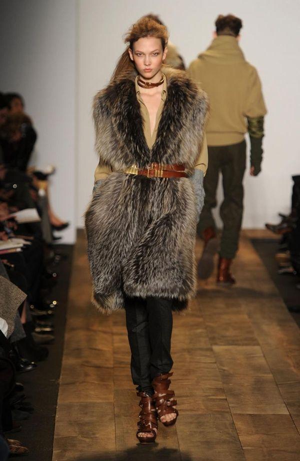 NEW YORK - FEBRUARY 17: A model walks