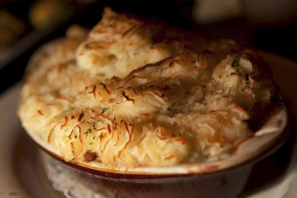 Shepherd's pie is one of the Irish entrees