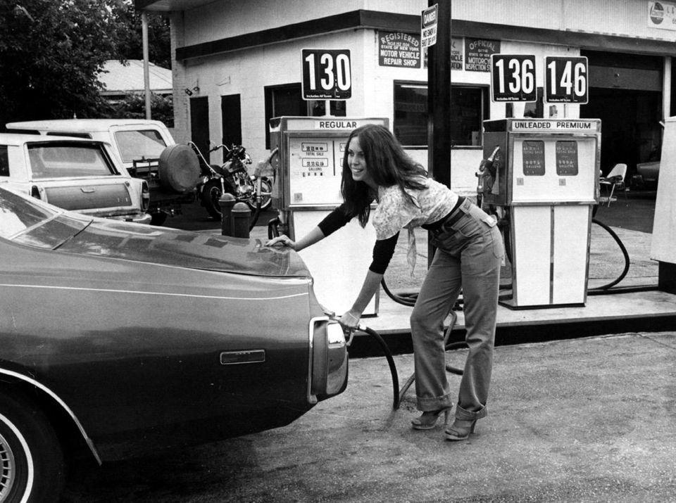 Then: Gas prices Donna Klecak smiles as she