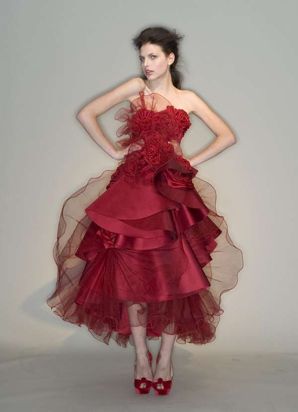 The lady in red is at the Marchesa