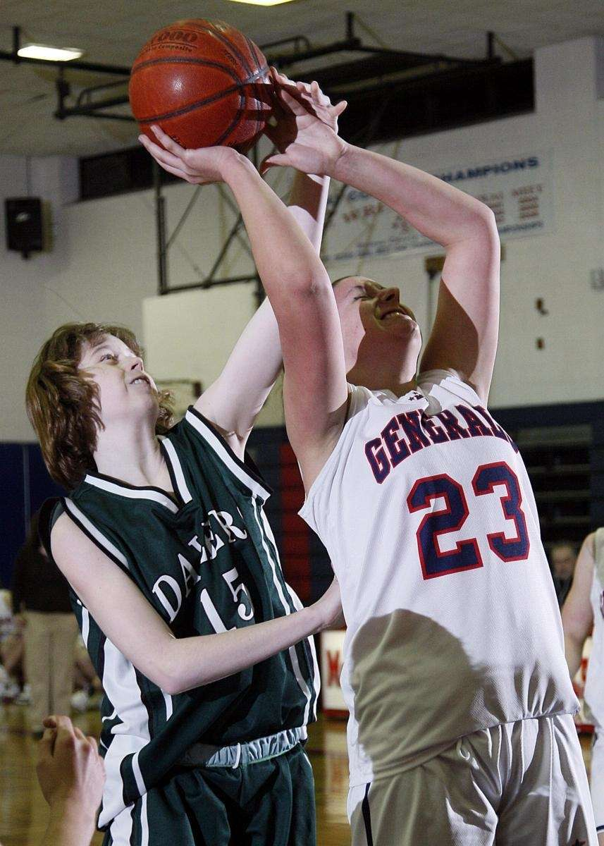MacArthur's Vanessa Wyckoff (23) is fouled on the