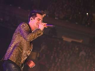 Panic! at the Disco singer Brendon Urie performs