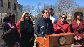 State Sen. Todd Kaminsky (D-Long Beach) and Hempstead