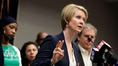 Cynthia Nixon, a candidate for New York governor,