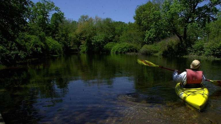 The Nissequogue River in Smithtown is perfect for