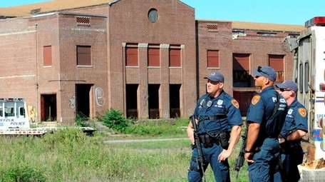 Suffolk County police emergency service officers at Pilgrim