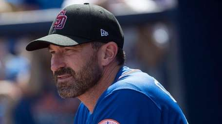 Mets manager Mickey Callaway during a spring training