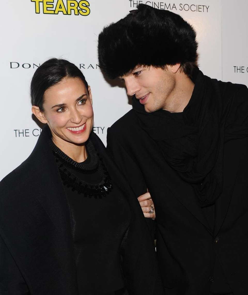 Actress Demi Moore and husband, actor Ashton Kutcher,