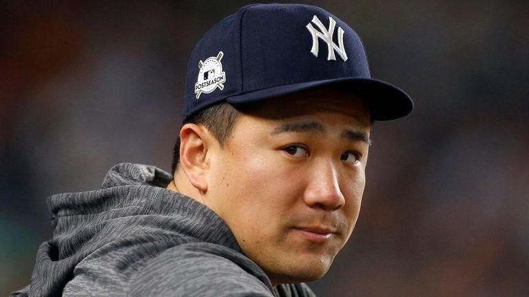 Masahiro Tanaka of the New York Yankees during