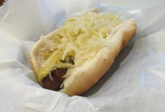 Hot dog at Kensington Deli in Great Neck