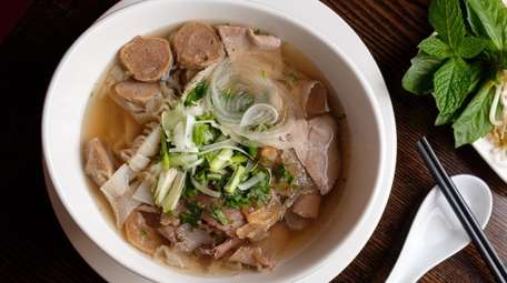 The broth for Pho dac Bjet takes 20