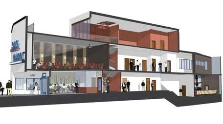A rendering of the reconstructed interior view of