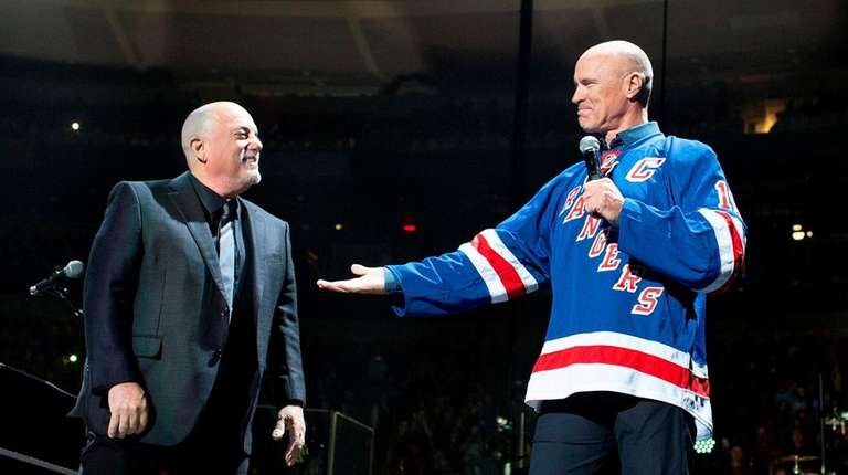 Awesome Billy Joel And Mark Messier Celebrate The 50th Nice Ideas