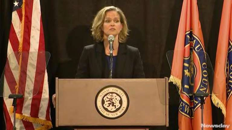 Nassau County Executive Laura Curran delivered her first