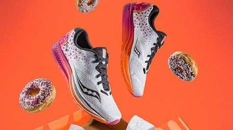 Dunkin' Donuts has partnered with Saucony to create