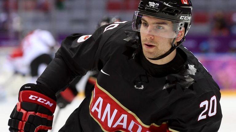 John Tavares of Canada prior to the Sochi
