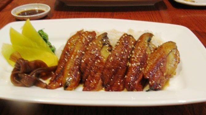 Unagi don (barbecued eel on rice bowl) at