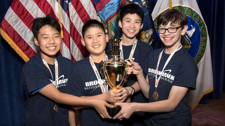 Great Neck South Middle School's winning Science Bowl
