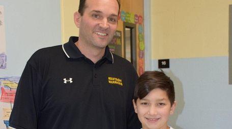 Vaughn Messina with Principal Anthony Ciuffo.