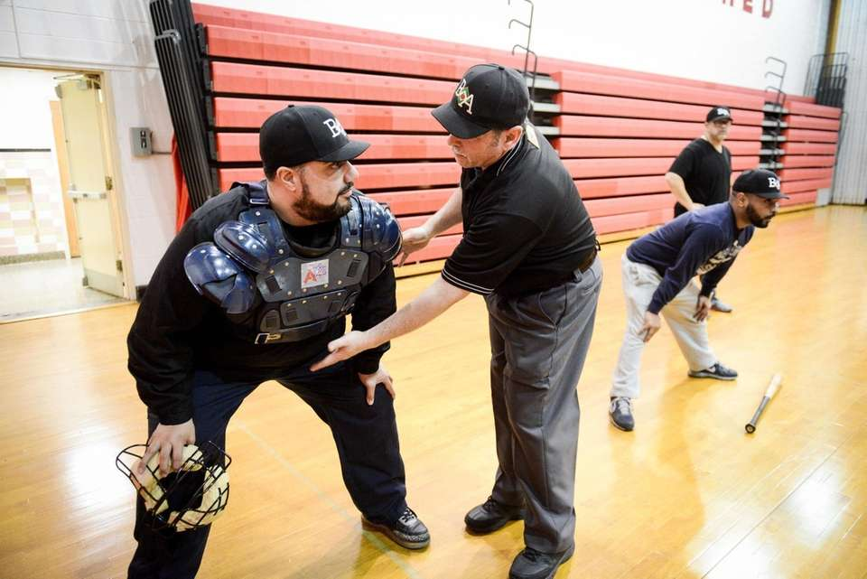 Big Apple Umpire School student Irvin Panetto gets