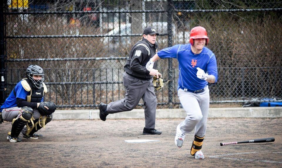 Big Apple Umpire School President Joe Goldstein shows