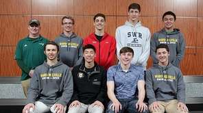 Boys Swimming (front row l-r) Luka Zuric, Ward