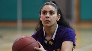 Gianna Gotti of Oyster Bay shoots a free