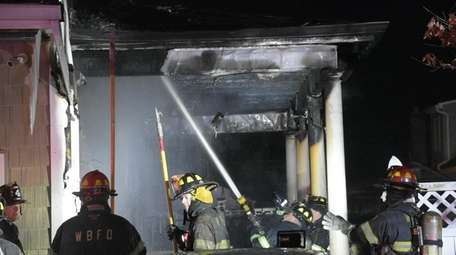 The West Babylon Fire Department responds to a